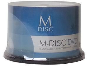 M-Disc 4.7GB Inkjet Printable DVD+R Archival Recordable Media - 50 Disc Model MDDPR04WIP-50