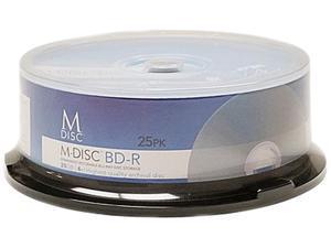 M-Disc 25GB White Inkjet Printable Permanent Data Archival Media Blu-ray BD-R 25 Disc Pack