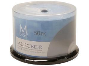 M-Disc 25GB White Inkjet Printable Permanent Data Archival Media Blu-ray BD-R 50 Disc Pack