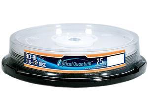 Optical Quantum 25GB 2X BD-RE White Inkjet Printable 10 Packs Blu-ray Rewritable Disc Model OQBDRE02WIP-10