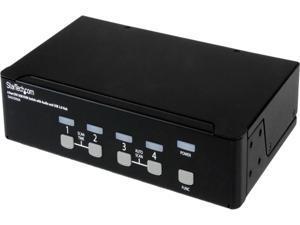 StarTech SV431DVIUA 4-Port KVM Switch for DVI Computers - 1U Rack-Mount KVM Switch with Audio - DVI KVM switch -2 port - 1U