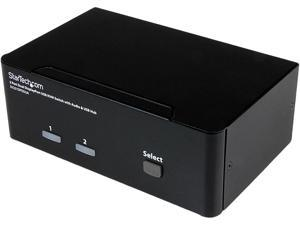 StarTech.com SV231DPDDUA 2 Port Dual DisplayPort USB KVM Switch with Audio & USB 2.0 Hub