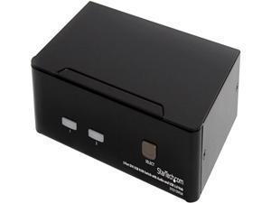 StarTech.com SV231DVIUA 2 Port DVI USB KVM Switch with Audio and USB 2.0 Hub