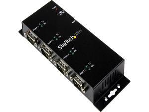 StarTech.com ICUSB2324I USB to Serial Adapter Hub - 4 Port - Industrial - Wall Mount - Din Rail - COM Port Retention - FTDI USB Serial