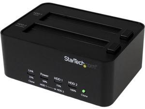 StarTech.com SATDOCK2REU3 USB 3.0 SATA Hard Drive Duplicator & Eraser Dock - Standalone 2.5/3.5in HDD & SSD Eraser and Cloner - Duplicator & Sanitizer