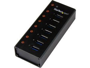 StarTech.com ST7300U3M 7 Port USB 3.0 Hub - Metal Enclosure - Desktop or Wall Mountable - USB 3 Hub - USB Extender - Powered USB 3.0 Hub - USB Splitter