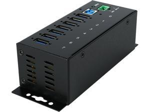 StarTech.com ST7300USBME 7 Port Industrial USB 3.0 Hub - with ESD Protection - Mountable - USB 3 Hub - USB Extender - Powered USB 3.0 Hub - USB Splitter