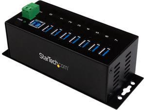 StarTech.com ST7300USBME 7 Port Industrial USB 3.0 Hub - with ESD Protection - Mountable - USB 3 Hub - USB Extender - Powered USB 3.0 Hub - USB Splitter