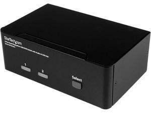 StarTech.com SV231DPDDUA2 DisplayPort KVM Switch - 2 Port - Dual-Display - 4k 60hz - USB Hub - Audio and Microphone