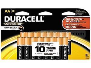 DURACELL CopperTop MN1500 AA Alkaline Battery, 16-pack
