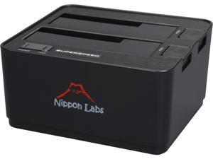 "Nippon Labs NL-ST0022A 2.5"" & 3.5"" SATA I/II/III USB 3.0 2-Bay Hard Drive Docking Station, Beige"