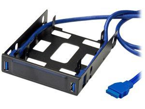 """VANTEC HDA-302H USB 3.0 Front Panel for 3.5"""" Drive Bay with Dual 2.5"""" SSD/HDD Bracket"""