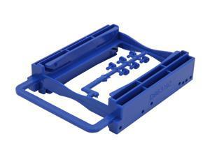 "BYTECC Bracket-252B 2.5"" Dual HDD/SSD Screwless Bracket For 3.5"" Drive Bay - Blue"