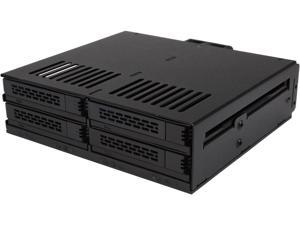 ICY DOCK 4 x 2.5 SSD to 5.25 Drive Bay Hot Swap Backplane Cage Mobile Rack Comparable to Tray-less Design - ExpressCage MB324SP-B