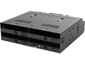"ICY DOCK MB524SP-B 4 x 2.5"" SSD Dock Trayless Hot-Swap SATA Mobile Rack for Ext 5.25"" Bay"