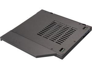 "ICY DOCK ToughArmor MB411SPO-2B (Fits 9.5mm height ODD Slot) 2.5"" SSD / HDD Hot-Swap SATA Mobile Rack for 9.5mm Ultra Slim CD/DVD-ROM Optical Bay"