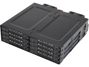 "ICY DOCK ToughArmor MB998IP-B Rugged Full Metal 8 Bay 2.5"" SAS/SATA SSD&HDD (7mm) Backplane Cage for External 5.25"" Bay"