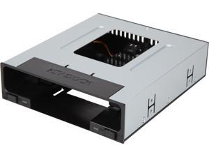 "ICY DOCK flexiDOCK MB795SP-B Tray-less 2.5"" and 3.5"" SAS/SATA SSD/HDD Docking Enclosure for External 5.25"" Drive Bay"