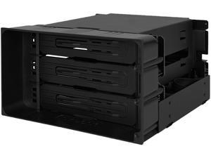 ICY DOCK flexiDOCK MB830SP-B Tray-less 3 Bay Removable 3.5-inch SATA/SAS Hard Drive Docking Enclosure in 2 x 5.25-inch Optical Bay (w/ Cables)