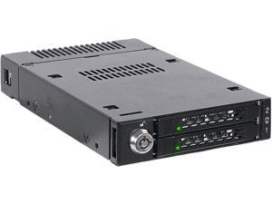 "ICY DOCK ToughArmor MB834M2K-B 2 x M.2 PCIe NVMe SSD Mobile Rack for External 3.5"" Drive Bay"