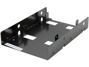 "SilverStone SST-SDP08B 2 x 2.5"" to 3.5"" Bay Converter (Black)"