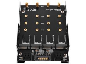 """SilverStone SDP11 3.5"""" Device Bay to Four M.2 SATA Adapter"""