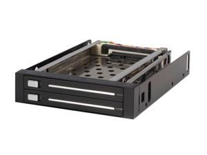StarTech.com HSB220SAT25B 2 Drive 2.5in Trayless Hot Swap SATA Mobile Rack Backplane - Dual Drive SATA Mobile Rack Enclosure for 3.5 HDD