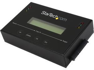 "StarTech.com SATDUP11 2.5"" & 3.5"" Black 2 - SATA Data & Power Combo (7+15 pin) Receptacle Standalone 2.5 / 3.5"" SATA Hard Drive Duplicator and Eraser"