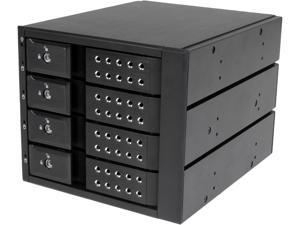 StarTech.com HSB4SATSASBA 4 Bay Aluminum Trayless Hot Swap Mobile Rack Backplane for 3.5in SAS II/SATA III - 6 Gbps HDD