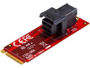 StarTech M2E4SFF8643 U.2 to M.2 Adapter - for 1 x U.2 PCIe NVMe SSD - M.2 PCIe x4 Host Interface - U.2 SSD - M.2 PCIe Adapter - U.2 Drive