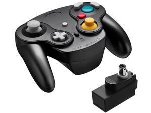 FirstPower Wireless Gamecube Controller Wavebird Style w/ Adapter for Nintendo NGC GC Black