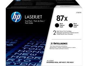 HP 87X High Yield LaserJet Toner Cartridge - Dual Pack - Black