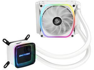 Enermax AQUAFUSION 120, Addressable RGB All-in-one CPU Liquid Cooler for AM4 / LGA1200, 120mm Radiator, Dual-Chamber Water Block, SquA RGB Fan, White, 5 Year Warranty