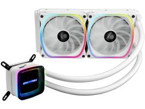 Enermax AQUAFUSION 240, Addressable RGB All-in-one CPU Liquid Cooler for AM4 / LGA1200, 240mm Radiator, Dual-Chamber Water Block, SquA RGB Fan, White, 5 Year Warranty