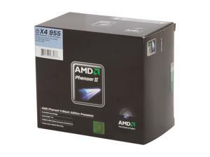 AMD Phenom II X4 955 Black Edition Deneb Quad-Core 3.2 GHz Socket AM3 125W HDZ955FBGIBOX Processor