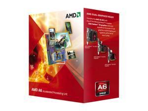 AMD A6-3500 Llano Triple-Core 2.1GHz (2.4GHz Max Turbo) Socket FM1 65W AD3500OJGXBOX Desktop APU (CPU + GPU) with DirectX 11 Graphic AMD Radeon HD 6530D