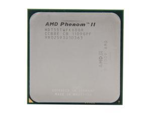 AMD Phenom II X6 1055T Thuban 6-Core 2.8GHz (3.3GHz Turbo Boost) Socket AM3 95W HDT55TWFK6DGR Desktop Processor