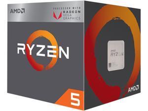 AMD RYZEN 5 2400G Quad-Core 3.6 GHz (3.9 GHz Max Boost) Socket AM4 65W YD2400C5FBBOX Desktop Processor - Retail