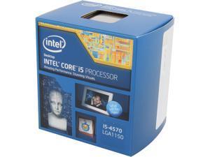 Intel Core i5-4570 - Core i5 4th Gen Haswell Quad-Core 3.2 GHz LGA 1150 84W Intel HD Graphics Desktop Processor - BX80646I54570