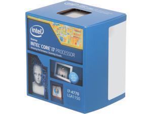 Intel Core i7-4770 - Core i7 4th Gen Haswell Quad-Core 3.4 GHz LGA 1150 84W Intel HD Graphics Desktop Processor - BX80646I74770