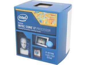 Intel Core i7-4770S - Core i7 4th Gen Haswell Quad-Core 3.1 GHz LGA 1150 65W Intel HD Graphics Desktop Processor - BX80646I74770S