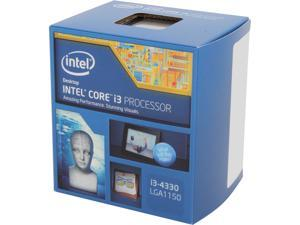 Intel Core i3-4330 - Core i3 4th Gen Haswell Dual-Core 3.5 GHz LGA 1150 54W Intel HD Graphics 4600 Desktop Processor - BX80646I34330
