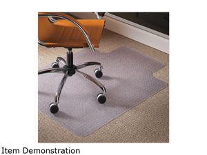 Es Robbins Natural Origins Chair Mat With Lip For Carpet 45 x 53 Clear 141042