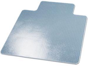 SuperMat Frequent Use Chair Mat Medium Pile Carpet Beveled 45x53 w/Lip Clear