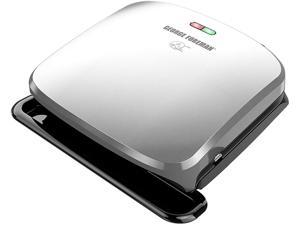 George Foreman 4-Serving Removable Plate Electric Indoor Grill and Panini Press, Platinum GRP3060P