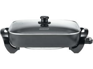 Brentwood SK-75 16 in. Electric Skillet with Glass Lid