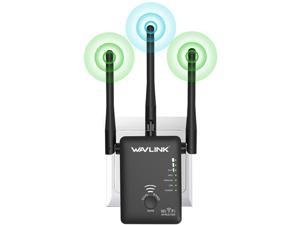 Wavlink AC750 Dual Band WIFI Range Extender Universal Wireless Signal Amplifier Booster Support for Repeater AP and wireless Router Modes 3-IN-1, 802.11ac, 3 x External Antennas, WPS, Wall Plug