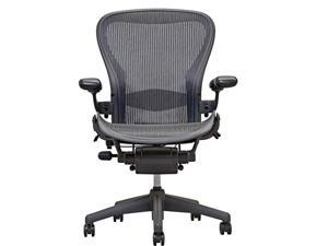 Herman Miller Aeron - Size B - Fully Adjustable Computer Office Chair with Tension Control, Tilt Lock, and Lumbar Pad