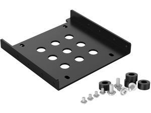 ORICO Aluminum 2.5 Inch to 3.5 Inch Bay Drive Converter Kit for Hard Drive/SSD Bracket Converter Adapter 3.5 to 1x2.5 - Black (AC325-1S-V1)