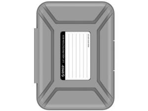[5Pack-Gray] ORICO 5 Bay 3.5 inch Protective Box / Storage Case for Hard Drive(HDD) or SDD  8 x 7.6 x 5.4 Inches -Grey (PHP-5S)
